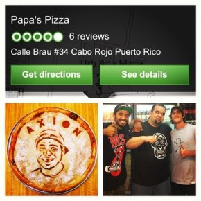 @papaspizzacaborojo is the best pizza in Puerto Rico. He's made over 50 different pizza tosses and won world contests. Top shelf ham pizza and he shreds. Check it out if your on the west side of the island.